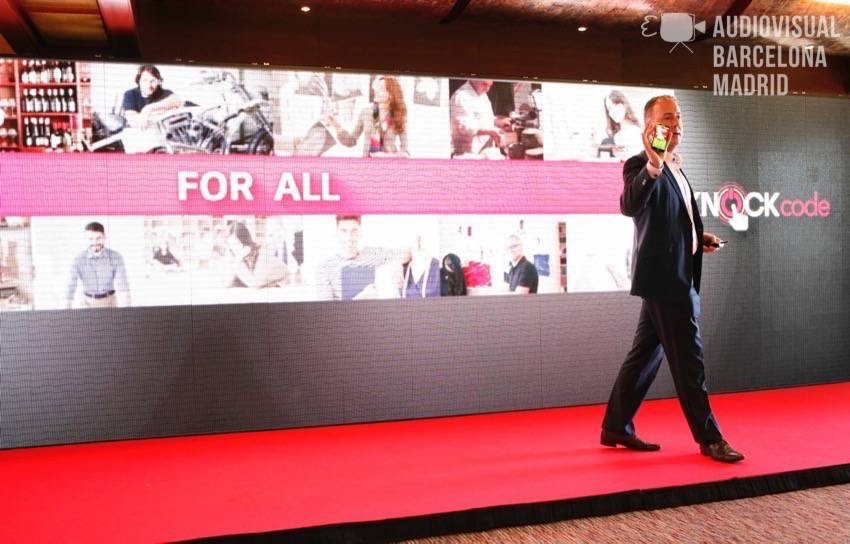 Rental of LED screen for event during the Mobile World Congress